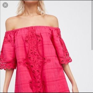 Free People Battenburg Mini Dress